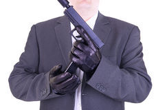 Elegant gangster Royalty Free Stock Image