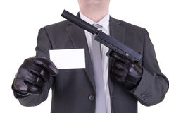 Elegant gangster hitman assassin Stock Photos