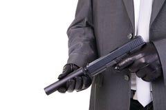 Elegant gangster hitman assassin Stock Photography