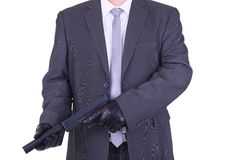 Elegant gangster hitman assassin Stock Photo