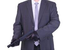 Elegant gangster hitman assassin Stock Photo