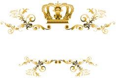 Elegant garnering i guld- signaler stock illustrationer