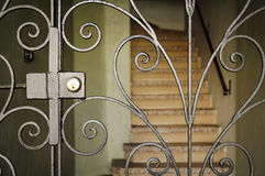 Elegant Gate With Stairs Royalty Free Stock Image