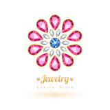 Elegant gemstones vector jewelry decoration. Royalty Free Stock Photos