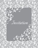 Elegant gentle template for the invitation to the wedding. Twisted stems with decorative leaves. Elegant gentle template for the invitation to the wedding Royalty Free Stock Images