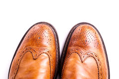 Elegant gentleman Leather Shoe Stock Image