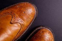Elegant gentleman Leather Shoe Stock Photo