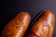 Elegant gentleman Leather Shoe Royalty Free Stock Photos