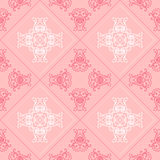 Elegant geometric background made of floral decorative pattern. Vector Royalty Free Stock Image
