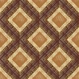 Elegant geometric greek seamless pattern. Vector ornamental abst. Ract background. Modern wallpaper. Grunge greek key meander ornaments, rhombus, halftone Stock Photo