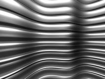Elegant geometric minimalistic stripe chrome background. 3d render illustration Stock Illustration