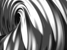 Elegant geometric minimalistic stripe chrome background. 3d render illustration Vector Illustration