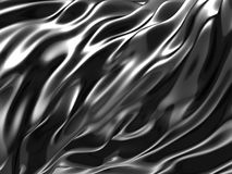 Elegant geometric minimalistic stripe chrome background. 3d render illustration Royalty Free Stock Photography