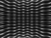 Elegant geometric minimalistic stripe chrome background. 3d render illustration Royalty Free Illustration