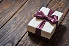 Elegant gift box Stock Photos