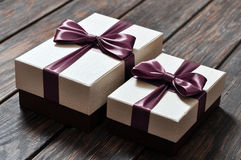 Elegant gift boxes Stock Images