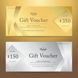 Elegant gift voucher or gift card or coupon template for discoun. T or complimentary Royalty Free Stock Image