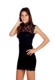 Elegant girl with a black dress Stock Photo
