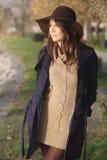 Elegant girl dressed in autumn colors Stock Photos