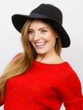 Elegant girl in hat. Royalty Free Stock Images
