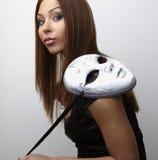 Elegant girl with mask Royalty Free Stock Photo