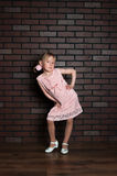Elegant girl in a pink dress Royalty Free Stock Images