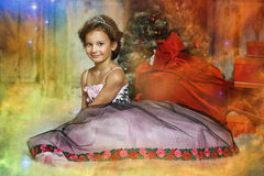Elegant girl with a tiara. On her head Royalty Free Stock Image