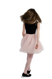 Elegant girl walking, back view Royalty Free Stock Photography