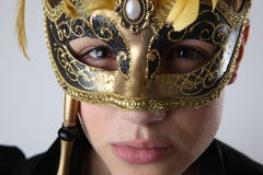Elegant girl with a wonderful mask Royalty Free Stock Photo