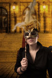 Elegant girl with a wonderful mask Royalty Free Stock Photos
