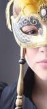 Elegant girl with a wonderful mask Royalty Free Stock Photos