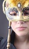 Elegant girl with a wonderful mask Royalty Free Stock Image