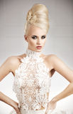 Elegant and glamorous young lady Royalty Free Stock Photos