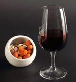 Elegant glas rode wijn Royalty-vrije Stock Fotografie