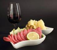 Elegant glas rode wijn Stock Afbeelding