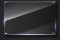Elegant glass banner, vector background. Stock Photos