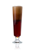 Elegant glass of cold dark beer with foam  Stock Photography