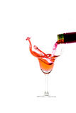 Elegant  glass with splash of drink Stock Photo