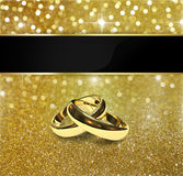 Elegant Glitter Wedding Rings Royalty Free Stock Photography