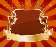 Elegant glossy brown background Stock Image