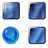 Elegant glossy web buttons Stock Photography
