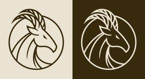 Elegant goat head emblem royalty free illustration