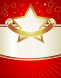 Elegant Gold Banner Stars Royalty Free Stock Image