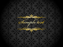 Elegant gold black background. With place for your text Royalty Free Stock Photos