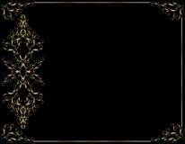 Elegant gold black background. Black background with an elegant gold frame Stock Image