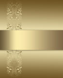 Elegant gold and brown background Royalty Free Stock Images