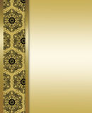 Elegant gold and brown background Royalty Free Stock Photography