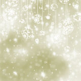 Elegant Gold Christmas Background. EPS 8 Stock Photo