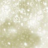 Elegant gold christmas background. EPS 8 Stock Photo