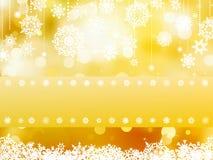 Elegant gold christmas background. EPS 8 Stock Photography